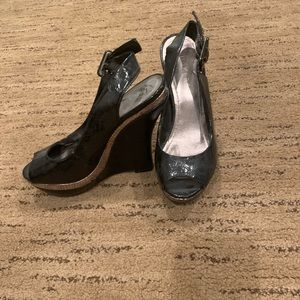 Bakers Shoes - Bakers Quiney Black Wedge Heels size 6